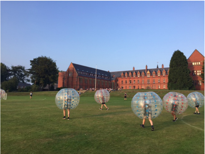 Bubble Football work party
